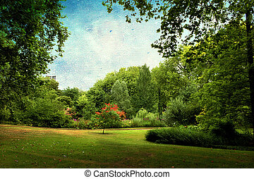London - Beautiful view of a park in London