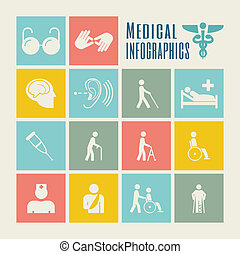 Disability Infographic Template. - Flat Disability...