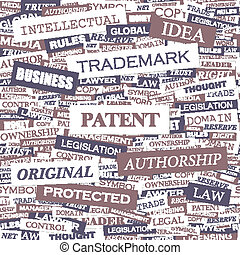 PATENT Concept illustration Graphic tag collection Wordcloud...