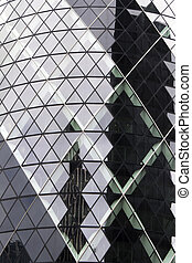 London  - Detail of skyscrapers, glass and steel