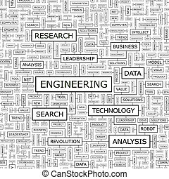 ENGINEERING Seamless pattern Word cloud illustration