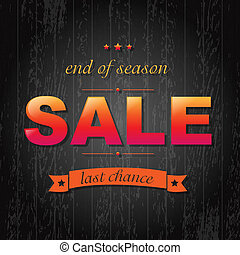 Color Sale Poster With Text, Vector Illustration
