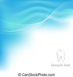 Dental Vector Background With Tooth - Blue Dental Background...