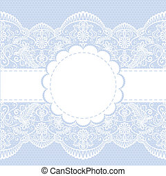 lace floral frame