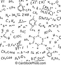 Chemistry hand draw background Seamless Vector illustration