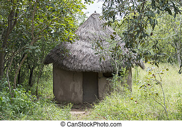 Rural African hut in south africa nature - Rural African hut