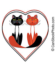 Cats in the heart.