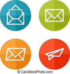 Set icons - Set of web icons or flat design elements. Eps 10...
