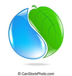Eco Simbol, Isolated On White Background, Vector...