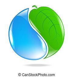 Eco Simbol, Isolated On White Background, Vector...