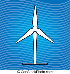Sign of wind energy - Ecology concept abstract illustration...