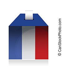 vote in france. illustration design