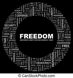 FREEDOM Word cloud concept illustration Wordcloud collage