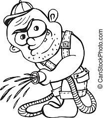 gangster gardener - Gangster gardener. Black and white...