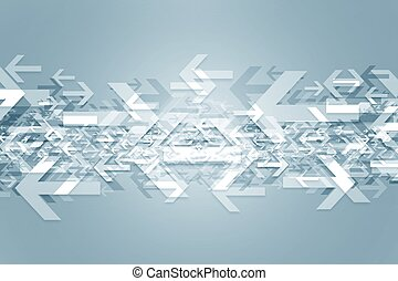 Oposite Directions Abstract Background Illustration with...