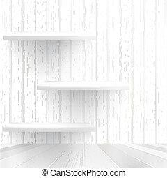 Wood shelf on wood background. + EPS10
