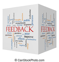 Feedback 3D cube Word Cloud Concept with great terms such as...