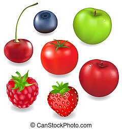 Collection Fruits And Berries