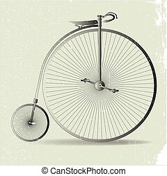 Grunge Penny Farthing Image - A typical penny farthing...