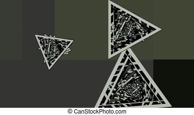 rotating triangles . abstract 3d graphics , vj - rotating...