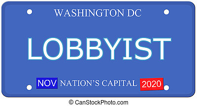 Washington DC Lobbyist License Plate - An imitation...