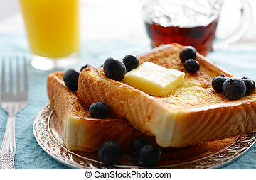 French Toast - A breakfast setting of delicious french toast
