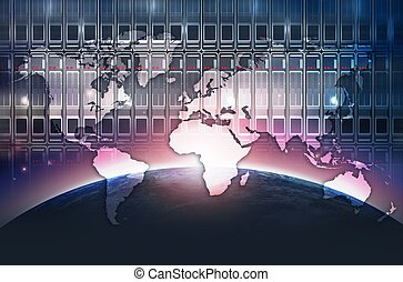 Digital World Background - Digital World Abstract Concept....