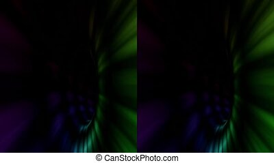 vj, multicolored tunnel. Real 3D stereoscopic. - vj,...