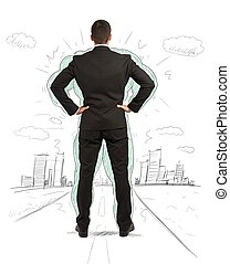 Business power - Concept of power of a businessman with...