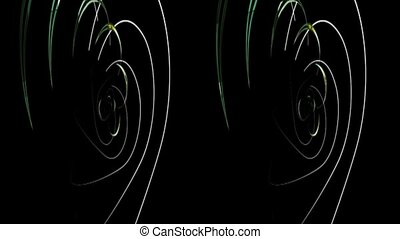 vj, heart on a black background. Real 3D stereoscopic. - vj,...