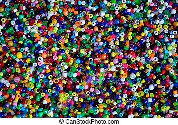 Plastic pony beads - Multi-colored pony beads