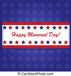 Memorial day background with American flag colors