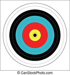 Bulls Eye - A typical bulls eye target isolated on a white...