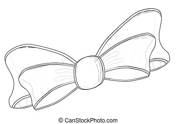 Bow Sketch - A sketch of a silk or satin bow isolated on...