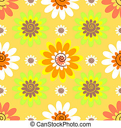 Abstract seamless floral pastel pattern - Abstract seamless...