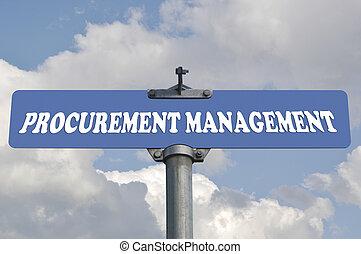 Procurement management road sign