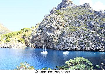 Sa Calobra Bay,Mallorca,Balearic Island,Spain