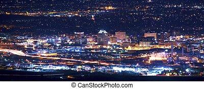 Colorado Springs at Night Panoramic Photography. Colorado...