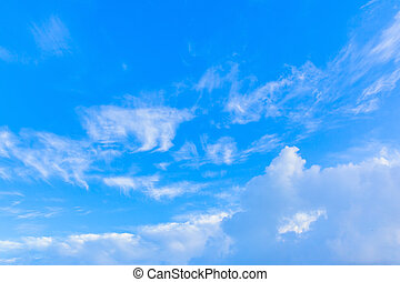 Blue sky with clouds, backgrounds