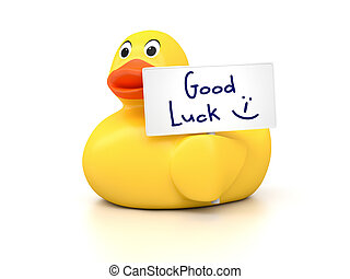 Rubber Ducky Good Luck - An image of a nice rubber duck with...