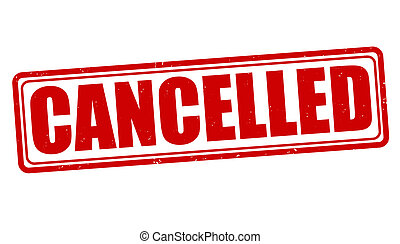 Cancelled stamp - Cancelled grunge rubber stamp on white,...