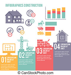 Construction infographic set - Construction engineering and...