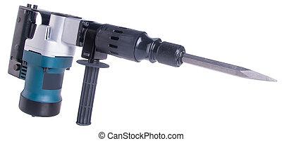 Hammer drill. Hammer drill on the background - drill. Hammer...