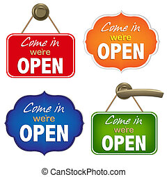 Vintage Open Sign Set