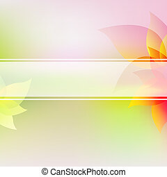 Pastel Flowers Background With Gradient Mesh, Vector...