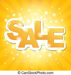 Sale Orange Poster, Vector Illustration