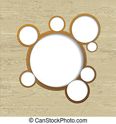 Web Design Bubbles With Wood Background - Web Design Bubbles...