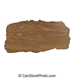 Wooden Background With Rip Paper