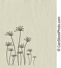 Abstract flowers - Illustration of abstract colors on a...