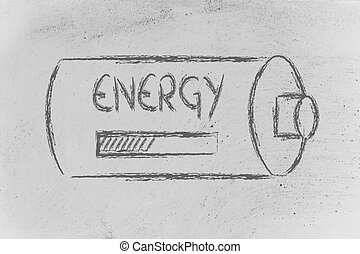 battery with energy progress bar loading - conceptual design...